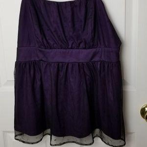 Torrid size 1x purple & black lace silk camisole
